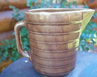 Ceramic Water Pitcher Brown Vintage USA