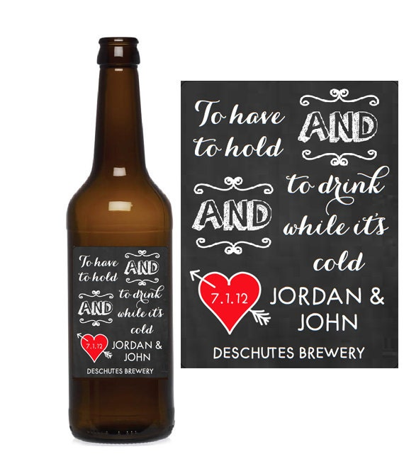 Custom Beer Bottle Labels Personalized Wedding By: Items Similar To Custom Wedding Beer Labels