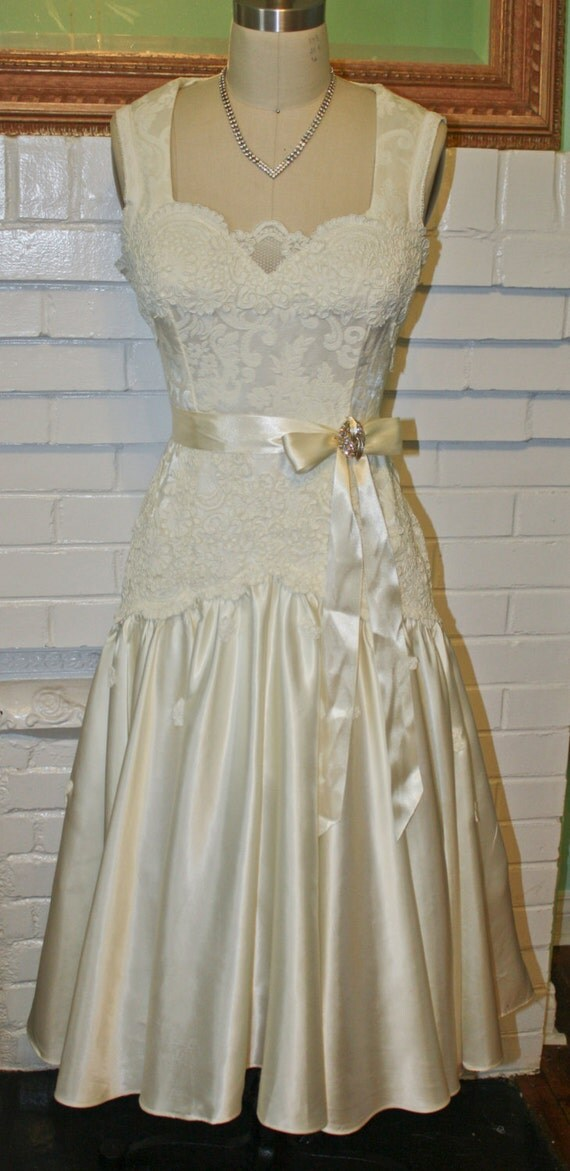 Pinup Wedding Dress Retro Vintage 50s By Psychedelicpinup