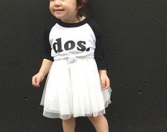girl's second BIRTHDAY shirt , dos birthday