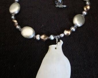 Possum Scapula Bone Necklace