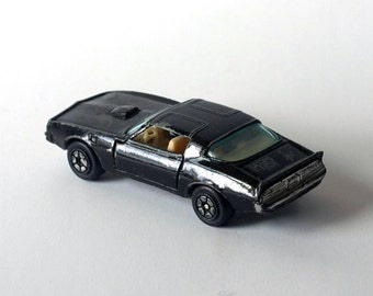 Black Trans-Am, 1970s, metal car, Matchbox size