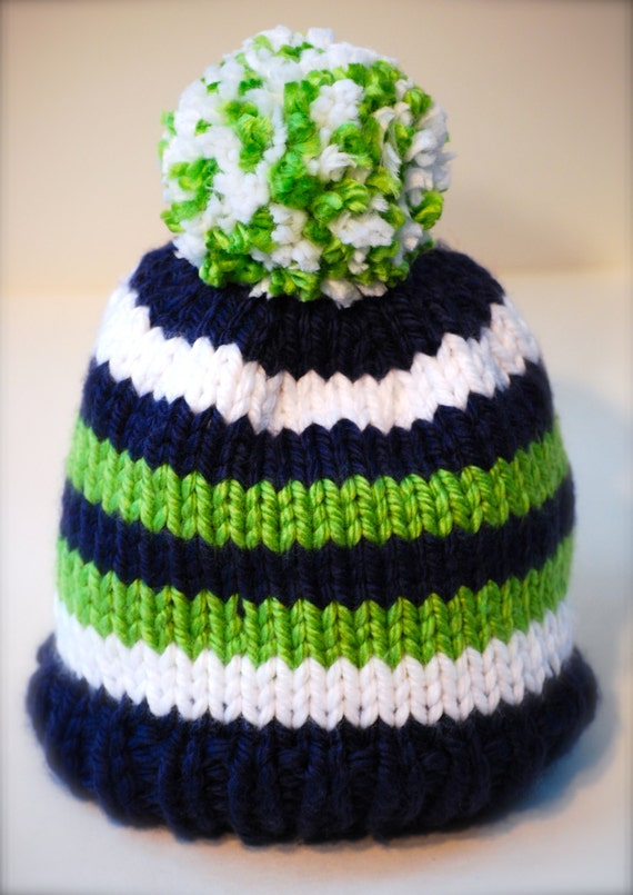 Seattle Seahawks Beanie For Babies Children Or Adults Blue
