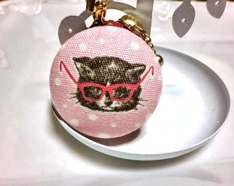 Cat with sunglasses macaroon coin/jewellery case