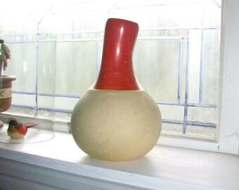 Vintage Water Pitcher Vase Weller Pottery Gourd