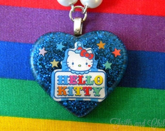 Circus Kitty Resin Necklace