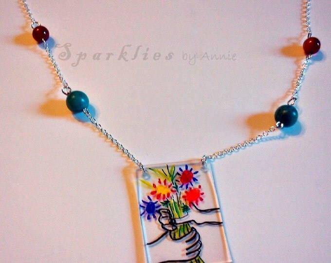 Flower Bouquet Necklace Inspired by Picasso