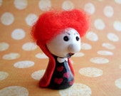 The Red Queen from Alice in Wonderland Miniature OOAK Polymer Clay Doll Figurine Fairytale Gift Cute Small Off with their Heads