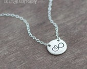 Necklace for Mother and Daughter - Infinity with Heart Pebble