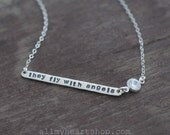 They Fly With Angels Remembrance Necklace - Memory Jewelry with Diamond