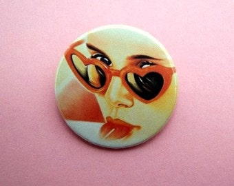 Lolita - button badge or magnet 1.5 Inch