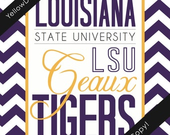 Louisiana State University Game Day Poster