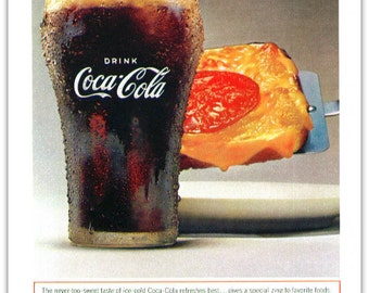 Vintage Coca Cola Magazine Ad 1964 Things Go Better With Coke