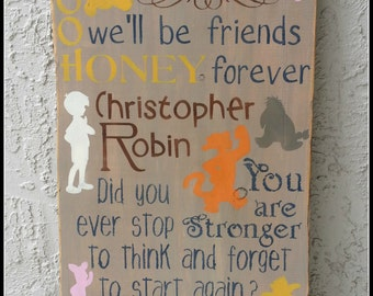 Winnie The Pooh, Pooh Bear Quotes, Nursery Decor, Wooden Signs, Typography Signs, Baby Shower Gift, New Baby