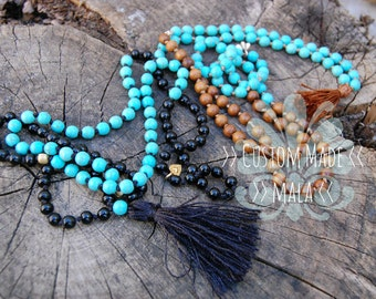 Custom made yoga mala, for the perfect meditation and yoga practice.