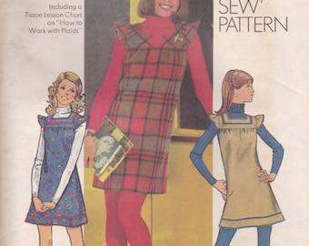 70s Jumper Pattern Simplicity 5154 Size 10