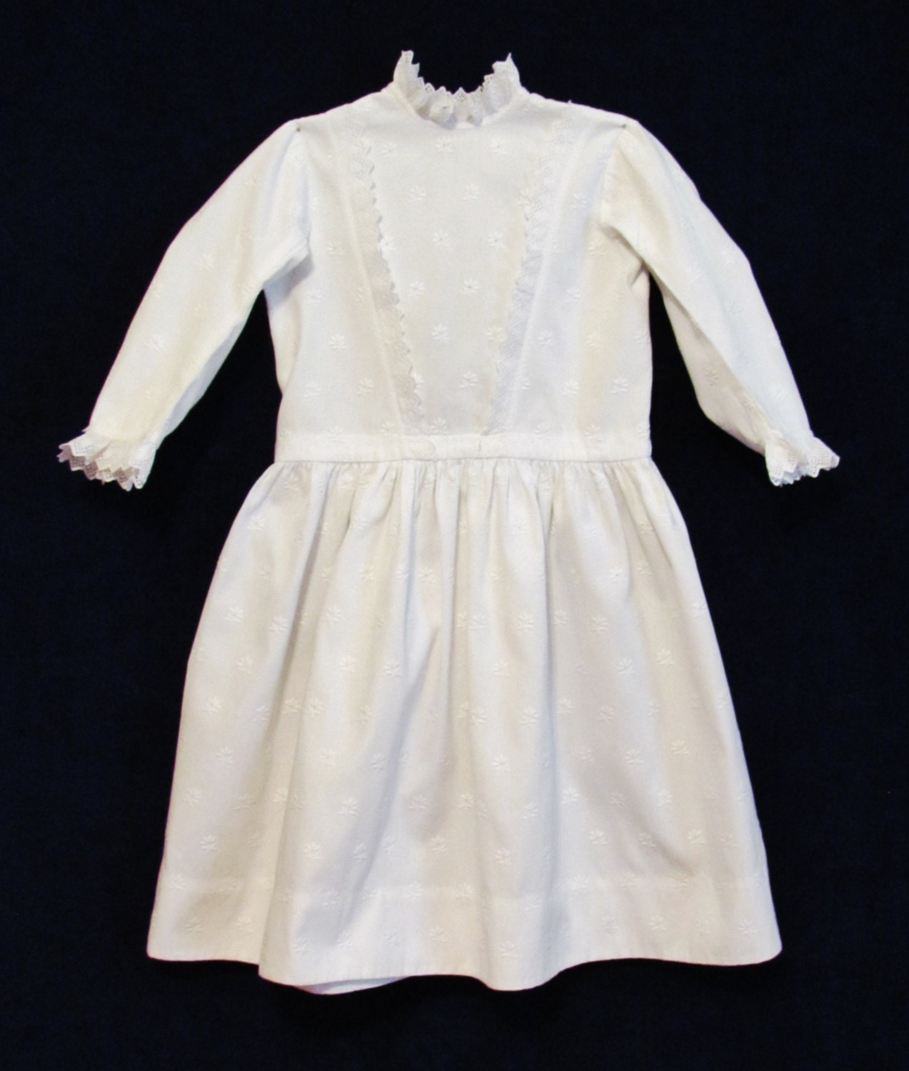 Vintage Little Girl's Dress Early 1900's White By