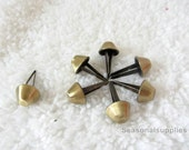 50pieces-10mm, 12mm,15mm Purse feet stud for bag purse making (antique brass color)  T69