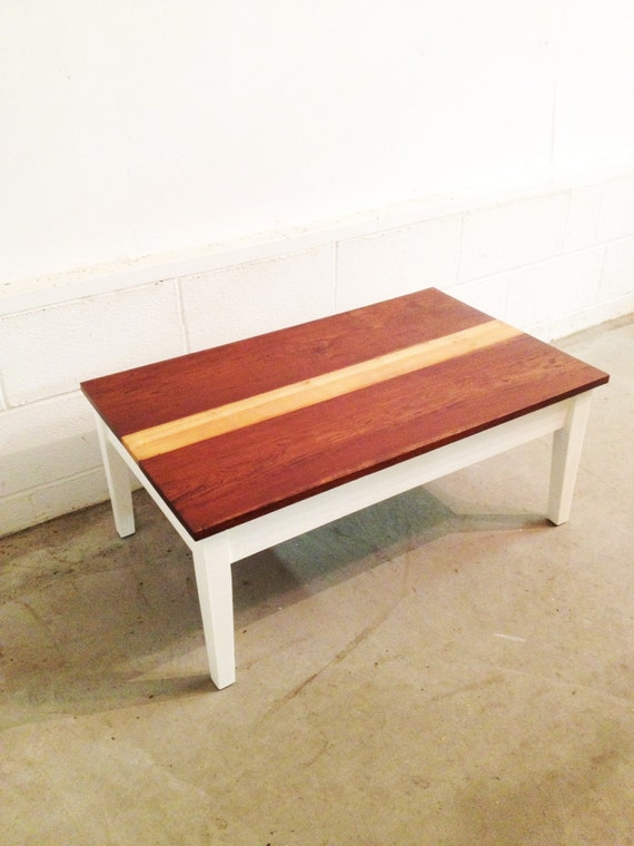 reduced two tone wood coffee table by kendramatusiak on etsy With two tone wood coffee table
