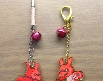 Guilmon Acrylic Charms 1.5""