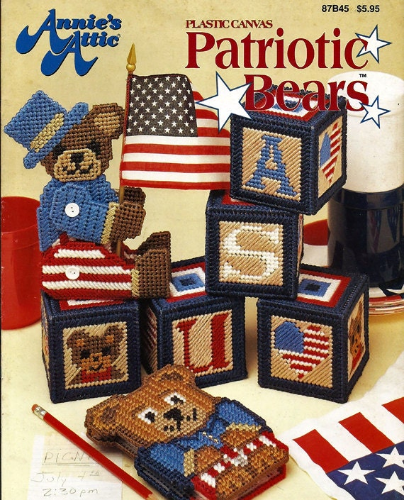 Patriotic Bears Plastic Canvas Patterns Annies Attic 87b45