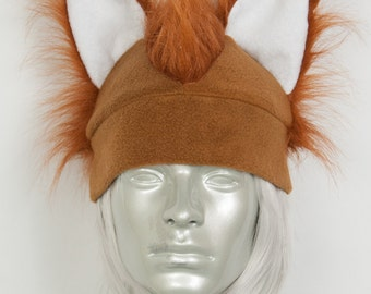 What Does the Fox Say Hat and/or Fox Tail Combo, Set in Rust