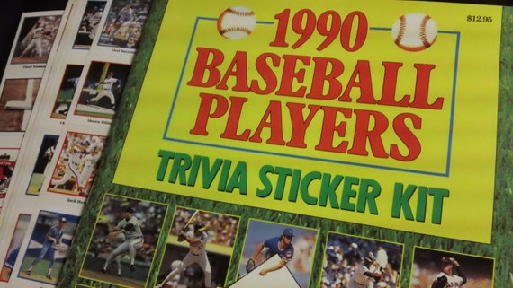 Vintage 1990 Officially Licensed Baseball Players Trivia