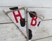Farm Birthday Banner / Happy Birthday Burlap Banner / Cowboy Birthday