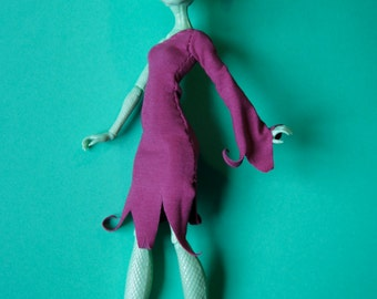 Monster High Kleidung witches dress purple