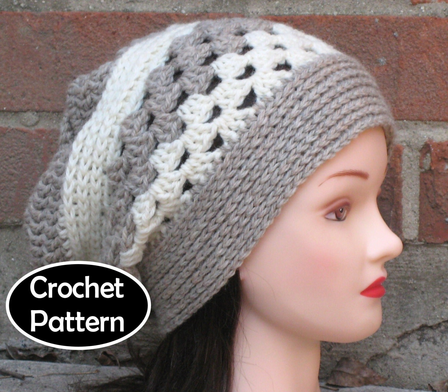 Crochet Hat Pattern Download : CROCHET HAT PATTERN Pdf Instant Download Whisper Slouchy