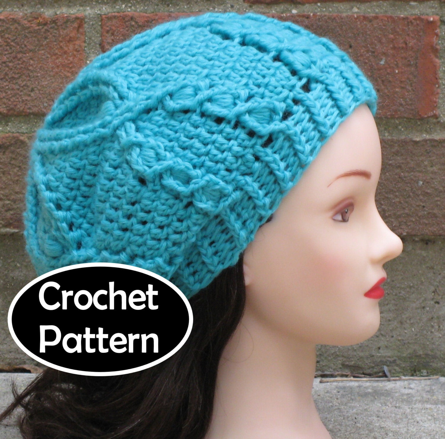 Crochet Hat Pattern Download : CROCHET HAT PATTERN Instant Download Pdf Waterlily Cabled