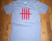 LFC 'Keeping score' screen printed tshirt (grey – M)