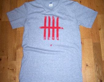 LFC 'Keeping score' screen printed tshirt (grey – S)