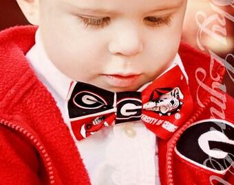 Georgia Bulldogs UGA No-Tie Elastic Strap Bow Tie