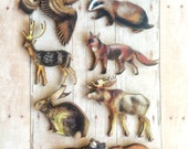 Fox Brooch Badger Hawk Bear Deer Jewelry Woodland Accessories