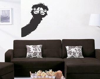 Ostrich - uBer Decals Wall Decal Vinyl Decor Art Sticker Removable Mural Modern A180