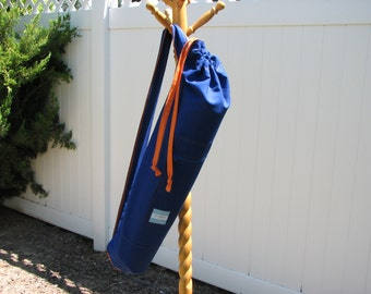Yoga Bag - Orange and Blue with 2 straps and an oversized zippered pocket. Men, Women, Teen, Yoga, Team, Light Weight, Boise State