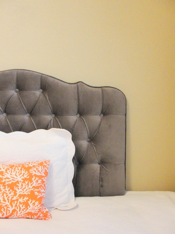 custom tufted upholstered headboard wall mounted made to. Black Bedroom Furniture Sets. Home Design Ideas