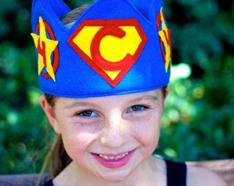 Personalized Superhero Felt Birthday Crown