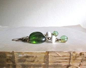 Green Droplet Earrings by Nancelpancel on Etsy