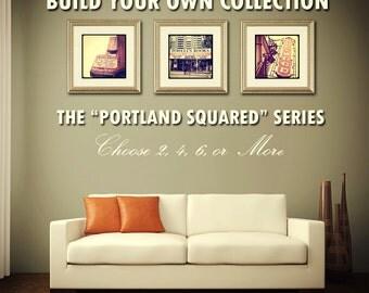 Portland Oregon Photography Set: CHOOSE YOUR own ASSORTMENT Instagram Vintage Portland Landmarks