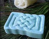 Irish Celtic Knotwork-Shea Butter Soap-Cucumber and Avocado-Hand Molded-Herbal-Basil-Rosemary-Sage-Organic-Vegan