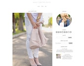 Blogger Template - Minimalist - Blogger Theme -  Fashion Blogger Template - Food Blog - Beauty Blogger Template
