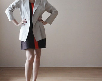 Light grey double breasted Italian wool jacket