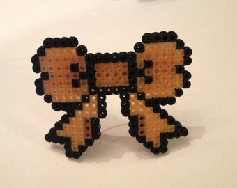8-bit Pixelated Computer Geek Large Hair Bow Barrette