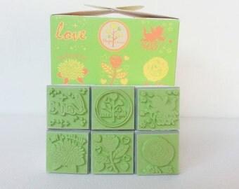 Valentine's Rose Rubber Stamp Love Valentine's Set Cupid Scrapbook supply stamper,rose, flower, love tree, high quality stamper ,6 stamps