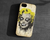 IPhone 4/4s/5 Case,zombie Marilyn Monroe skull TPU Gel Silicone Cover iPhone 5 gothic art black yellow