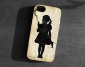 IPhone 4/4s/5 Case,girl smoking with a gun,Soft TPU Gel Silicone Cover iPhone gothic art