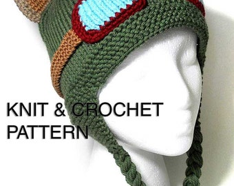 Teemo Hat Knit & Crochet Pattern - digital pdf instant download