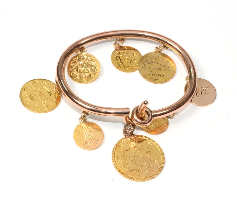 Antique Bracelet Antique Victorian Circa 1890s 15k Rose Gold